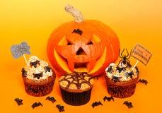 Halloween cupcakes Stock Photos