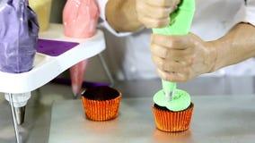 Halloween Cupcakes stock footage