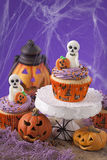Halloween cupcakes Royalty Free Stock Photos