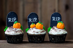 Halloween cupcakes. Cupcakes with a Halloween theme Royalty Free Stock Photo