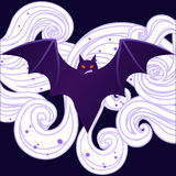 Halloween cute angry bat Royalty Free Stock Photos