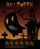 Halloween Cute Ghost template Stock Photo