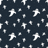 Halloween cute ghosts seamless pattern royalty free stock photography