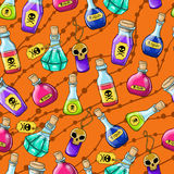 Halloween cute hand drawn pattern Stock Photography