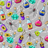 Halloween cute hand drawn pattern Royalty Free Stock Photo