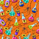Halloween cute hand drawn pattern Stock Photo