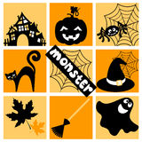 Halloween cute icon Stock Image