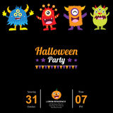 Halloween with cute monsters Royalty Free Stock Photography