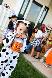 Halloween: Cute Trick or Treater with Flashlight Royalty Free Stock Photo
