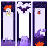 Halloween cute vector banners Royalty Free Stock Image