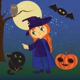Halloween. Cute Vector Illustration. Digital art Royalty Free Stock Images
