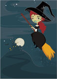 Halloween cute witch background Royalty Free Stock Photography