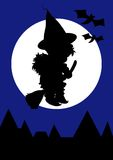 halloween czarownica royalty ilustracja
