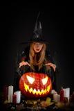 halloween czarownica Obrazy Royalty Free