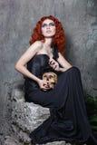 Halloween, czarownica, wampir, czaszka Zdjęcie Stock