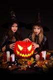 halloween czarownicy Fotografia Royalty Free