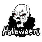halloween czaszka Fotografia Stock