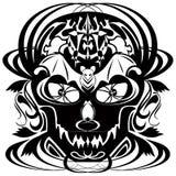 halloween czaszki tatuaż Obrazy Royalty Free