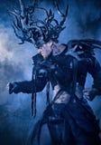 Halloween-Dämonrotwildmode cosplay lizenzfreies stockfoto