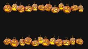 Halloween découpé pumpking à la maison l'illustration de la lanterne 3d de Jack o photos stock