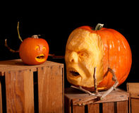 halloween dźwigarki latarniowa o bania obrazy stock