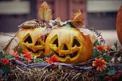 halloween dźwigarki latarniowa o bania Zdjęcia Royalty Free
