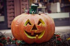 halloween dźwigarki latarniowa o bania Zdjęcie Stock