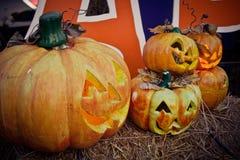 halloween dźwigarki latarniowa o bania Fotografia Stock