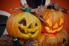 halloween dźwigarki latarniowa o bania Zdjęcia Stock