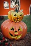 halloween dźwigarki latarniowa o bania Fotografia Royalty Free