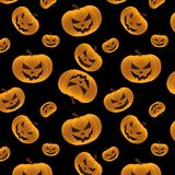 Halloween 3D Pumpkins Seamless Background stock illustration