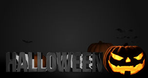 Halloween 3d render pumpkin Stock Photography