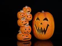 halloween dźwigarki lampiony o Obraz Royalty Free