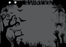 Halloween-dag zwart knuppel en pompoenspook Stock Foto's