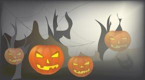 Halloween-Dagviering. Vector met Pompoen Stock Afbeeldingen