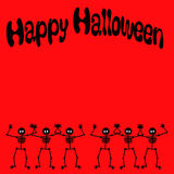 Halloween dancing skeleton Stock Photos