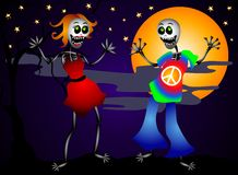 Halloween Dancing Skeletons Royalty Free Stock Image