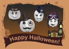 Halloween dans le style de steampunk Image stock