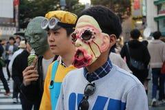 Halloween dans Shibuya images libres de droits