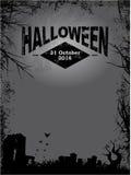 Halloween dark grunge poster Royalty Free Stock Image