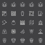 Halloween dark icons set Royalty Free Stock Image