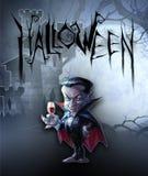 Halloween dark illustration with count Dracula Royalty Free Stock Photos