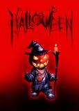 Halloween dark illustration with Jack O Lantern Stock Photo