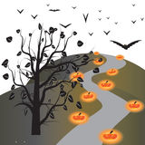 Halloween day. Halloween night of frame on halloween day Stock Photo