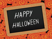 Halloween day background with Chalkboard Stock Image
