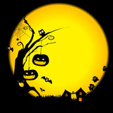 Halloween day background vector Royalty Free Stock Images
