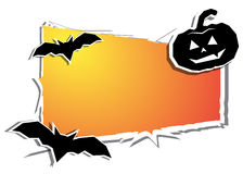Halloween day. black bat and pumpkin Ghost Royalty Free Stock Images