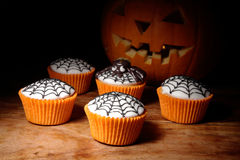 Halloween day cupcakes Stock Photo