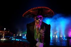 Halloween Day of The Dead party in Netherlands. Day of the Dead Royalty Free Stock Photos