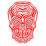 Halloween and day of the Dead scull Royalty Free Stock Photography